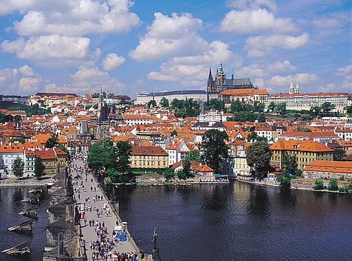 Prague old town tower view