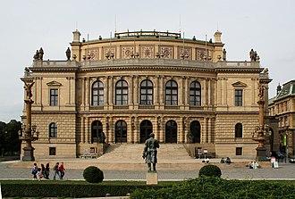 Prague Half Marathon - The Rudolfinum auditorium, where the race begins and ends.