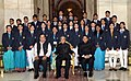 Pranab Mukherjee with the recipients of the Indira Gandhi National Service Scheme Awards 2013-14, at Rashtrapati Bhavan, in New Delhi. The Minister of State for Youth Affairs and Sports (Independent Charge).jpg