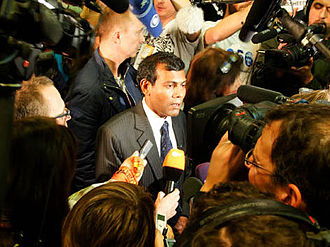 Mohamed Nasheed - Nasheed during the Copenhagen Climate Change Conference