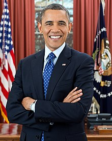 Portrait officiel de Barack Obama, en 2012.