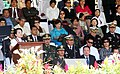 "President Gloria Macapagal-Arroyo addresses this year's graduating class of the Philippine Military Academy (PMA) ""Masiglahi"" Class 2009.jpg"