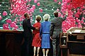 President Reagan Nancy Reagan with George Bush and Barbara Bush celebration at the 1984 Republican National Convention at the Dallas Convention Center C23786-26.jpg