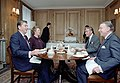 President Ronald Reagan during a meeting with Prime Minister Thatcher at 10 Downing Street.jpg