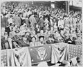 President Truman attends the opening baseball game at Griffith Stadium in Washington, D. C. between Washington and... - NARA - 199755.jpg