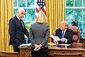 President Trump with Mike Pence and Kirstjen Nielsen 2018-09-13.jpg