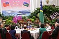 President Tsai hosts a state banquet for a delegation led by Solomon Islands Prime Minister Manasseh Sogavare and his wife (evening of 26 September 2017) at the Presidential Office Building in Taipei.jpg