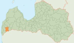 Priekule Municipality - Image: Priekules novada karte