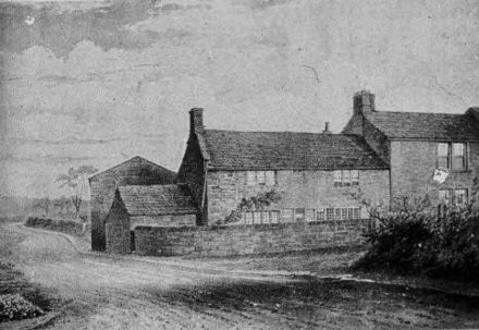 Priestley's birthplace (since demolished) in Fieldhead, Birstall, West Yorkshire – about six miles (10 km) southwest of Leeds[9]