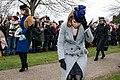 Princess Eugenie, Princess Beatrice and the Princess Royal at Sandringham Christmas Day Service - 2017 (24450940337).jpg