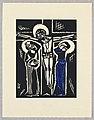 "Print, Ukrizovani, Crucifixion, Plate V, ""Ethiopie, cili Christos, Madonna a Svati, jak jsem ie videl v illuminacich starych ethiopskych kodexu"" Portfolio, 1920 (CH 18684917-2).jpg"