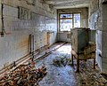 Pripyat; hospital lab building; window and box.jpg