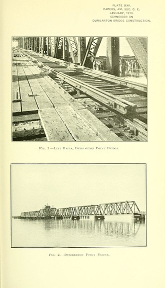 Dumbarton Rail Bridge - Image: Proceedings 39amer 0233