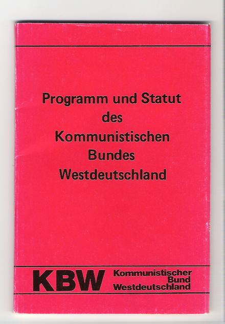 Bütikofer war in den 70 ern eine der führenden Köpfe des maoistischen Kommunistische4n Bund westdeutschland KBW