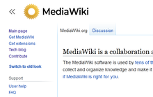 Proposed mediawiki logo (yellow translucent, capitalised) new vector v2.png