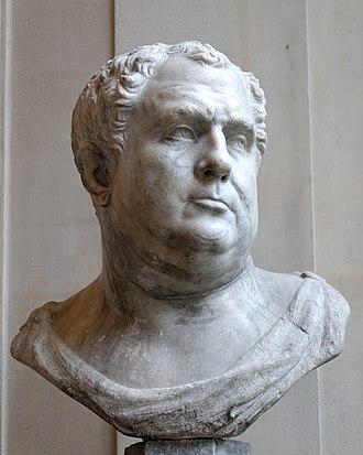 Domitian - A bust of Emperor Vitellius (Louvre).