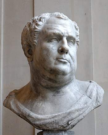 Male bust of the Pseudo-Vitellius type. Grey v...
