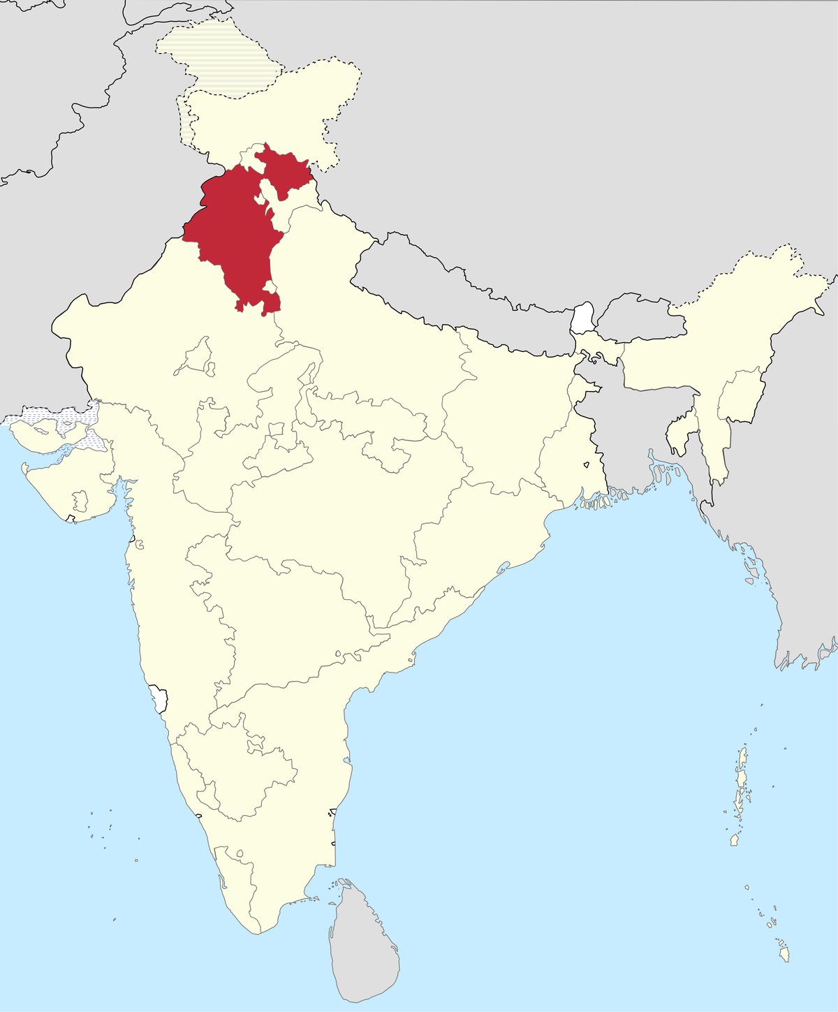 Punjab India Map East Punjab   Wikipedia