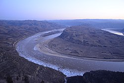 Qiankun Bend of Yellow River in Yonghe