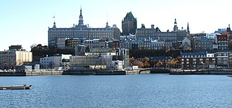 Port of Quebec - Louise Bassin, and Old Quebec.