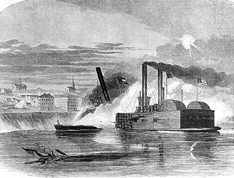 USS Queen of the West (1854) - Image: Queen Vicksburg