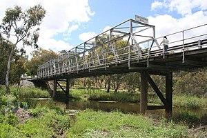 Barwon River (Victoria) - The single-lane Queens Park Bridge