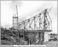 Queensland State Archives 3629 Main bridge erection stage 3 five panels completed Brisbane 23 March 1938.png