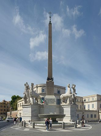 Fontana dei Dioscuri - La fontana dei Dioscuri