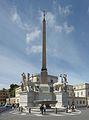 Quirinale Piazza del Quirinale fontana Dioscuri e scuderie Roma.jpg