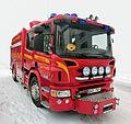 Röd brandbil Scania P360 årsmodell 2012 - 6219.jpg