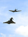 RAF Typhoon with WWII Spitfire MOD 45157528.jpg