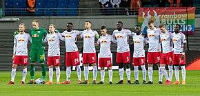 Una formazione dell'RB Lipsia nella Champions League 2017-2018