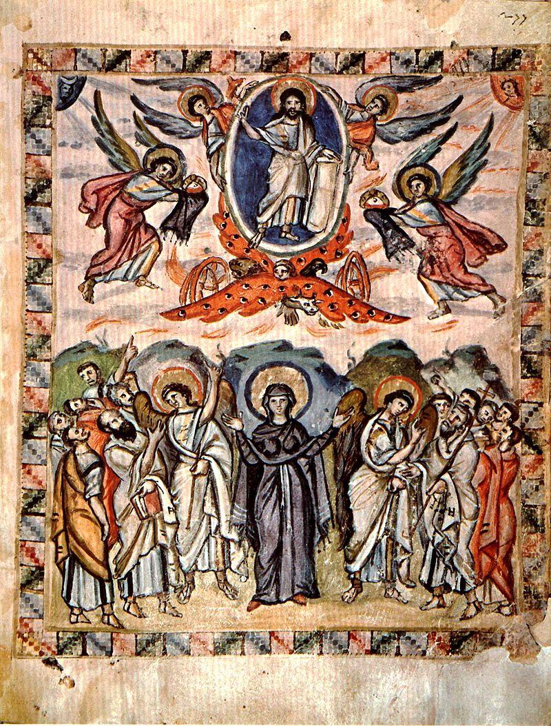 Ikona Wniebowstąpienia Jezusa z Ewangeliarza Rabuli
