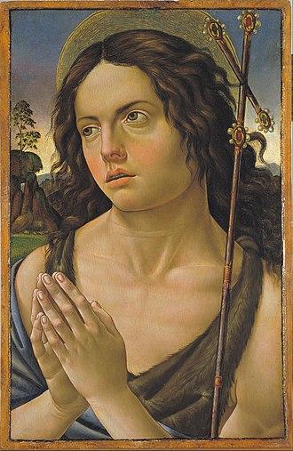 Raffaellino del Garbo - Image: Raffaellino del Garbo Saint John the Baptist Google Art Project