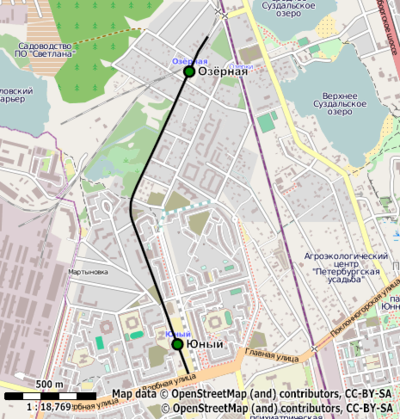 Схема старой трассы с 2001