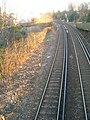 Railway line curves towards Rowlands Castle just past Eastern Road - geograph.org.uk - 1133628.jpg