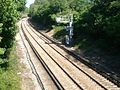 Railway line east of Bookham station - geograph.org.uk - 51472.jpg