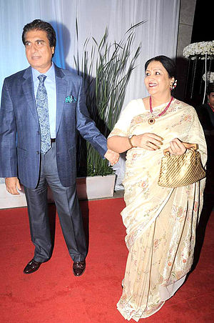 Raj Babbar - Raj with wife Nadira, July 2012