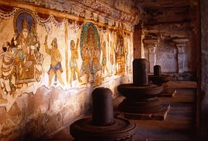 Thanjavur painting - Nayaka period paintings in the Peruvudaiyar Koil