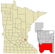 Ramsey County Minnesota Incorporated and Unincorporated areas St. Paul Highlighted.svg