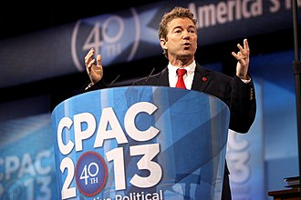 Rand Paul - Rand Paul speaking at the 2013 Conservative Political Action Conference (CPAC) in National Harbor, Maryland, on March 14, 2013