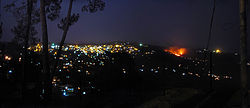 Ranikhet town at night, from Rai estate.jpg