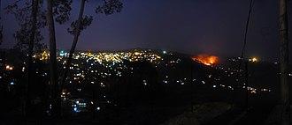 Ranikhet - Image: Ranikhet town at night, from Rai estate