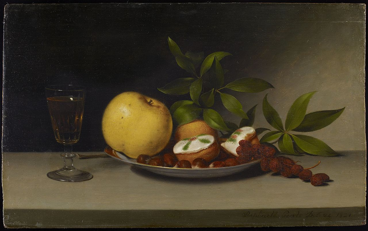 Still Life With Fruit Cakes And Wine