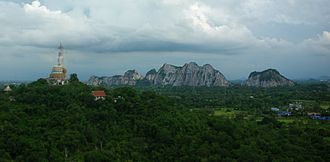 Tenasserim Hills - Limestone hills near Wat Nong Hoi, Ratchaburi, Thailand