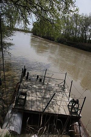 Prahova River - The Prahova River near Adâncata