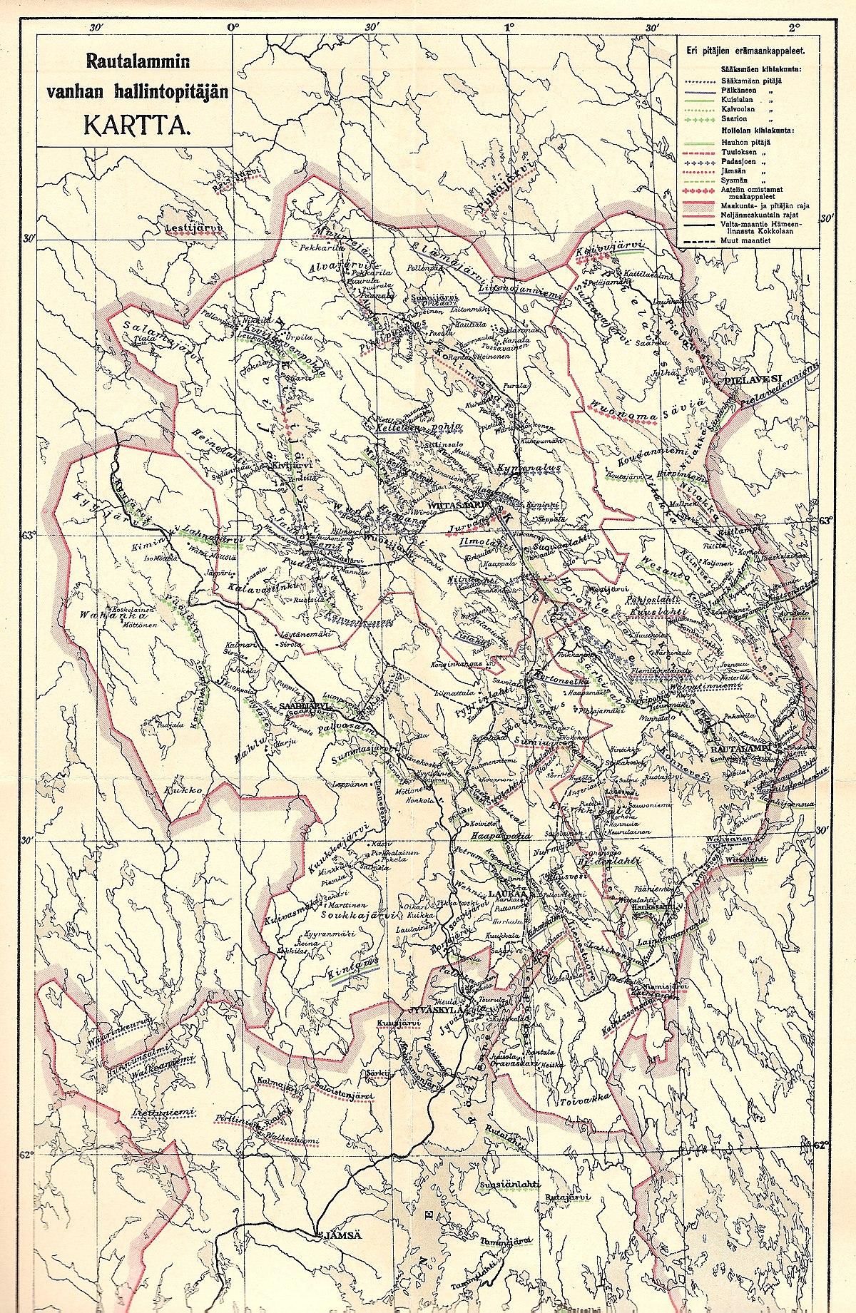 File Rautalammin Vanhan Hallintopitajan Kartta Jpg Wikimedia Commons