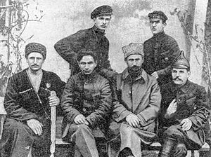 Red Army invasion of Georgia - Red Army commanders in Batum in March 1921