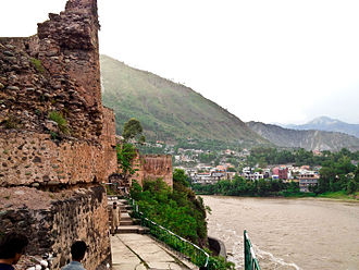 Red Fort, Muzaffarabad - Image: Red Fort Muzaffarabad