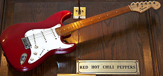 Fender Stratocaster - Red Hot Chili Peppers Squier guitar.